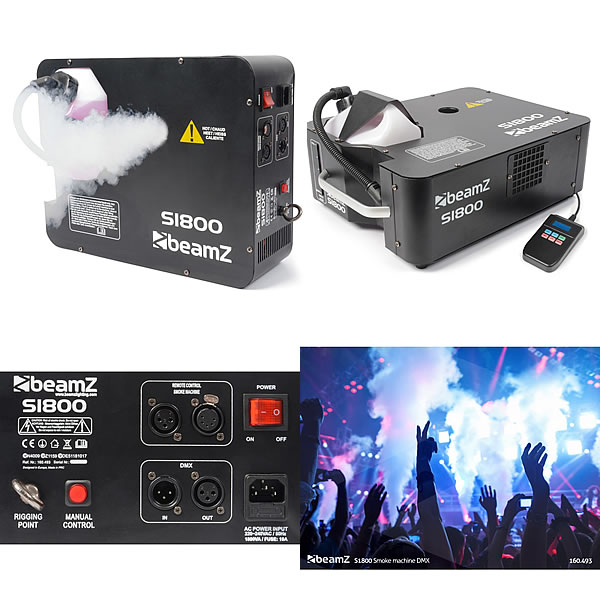 S1800 Smoke Machine DMX HorizontalVertical