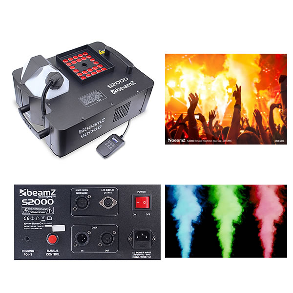S2000 Smoke Machine 24x 3W 3-in-1 LEDs