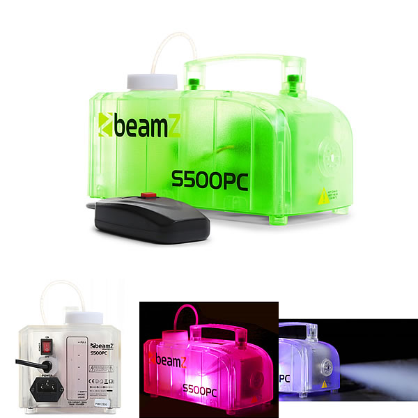 S500PC transparant smoke machine with LED