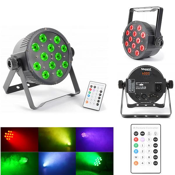 FlatPAR 12x 3W 3-in-1 LEDs