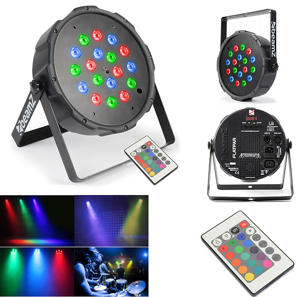 FlatPAR 18x 1W RGB LEDs
