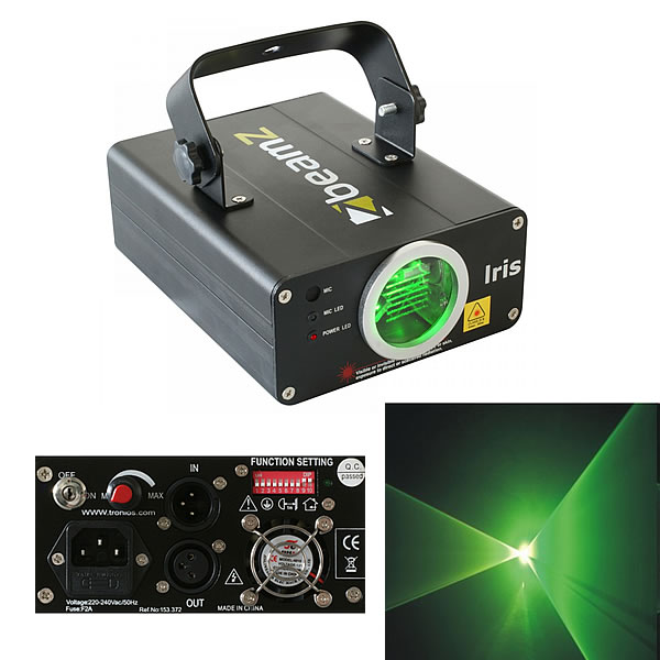 Iris Laser Effect Green 50mW DMX