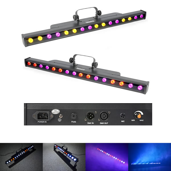 LCB48 LED Bar 16x 3W 3-in-1 LEDs