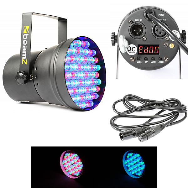 PAR 36 DMX spot 60 LEDs - Black