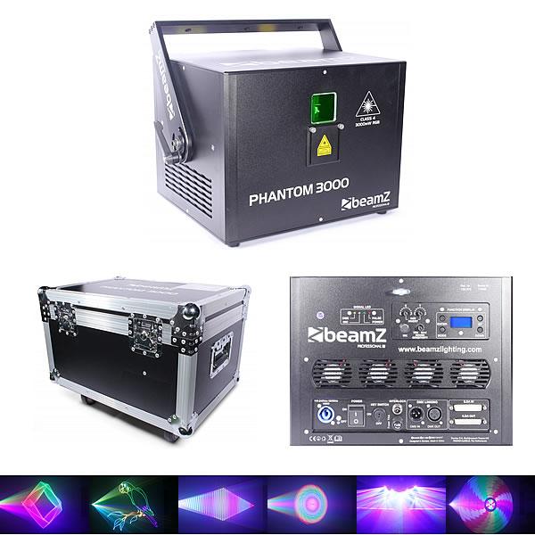 Phantom 3000 Pure Diode Laser RGB Analog 40kpps with flightcase